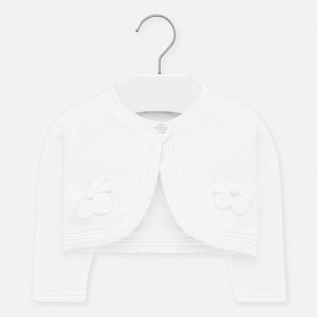 Pletený svetr pro dívky Mayoral 1326-33 Bílý