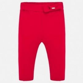 Bavlněné kalhoty pro dívky Mayoral 1556-91 Červené