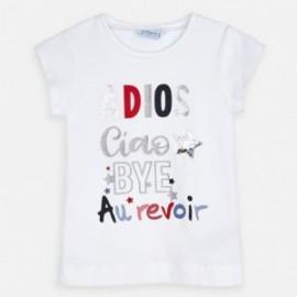 Bavlněné tričko pro dívku Mayoral 3018-52 Bílý