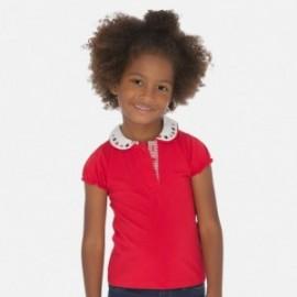 Bavlněné polokošile s límečkem pro dívky Mayoral 3178-48 Červené