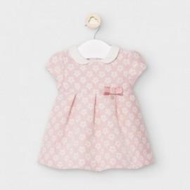 Žakárové šaty pro dívky Mayoral 2861-10 růžové