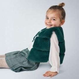 Vesta s kožešinou pro dívku Mayoral 4351-10 Zelená