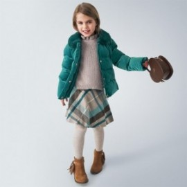 Velurová bunda pro dívky Mayoral 4413-74 tyrkysová