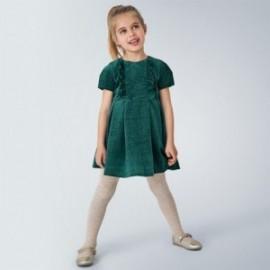 Sametové šaty pro dívky Mayoral 4972-91 tyrkysová