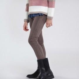 Dlouhé kalhoty pro dívky Mayoral 7537-51 hnědá