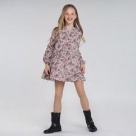 Květinové šaty pro dívky Mayoral 7970-3 Růžový