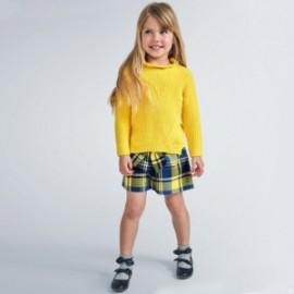 Kostkované šortky Bermudy dívka Mayoral 4206-42 žlutá
