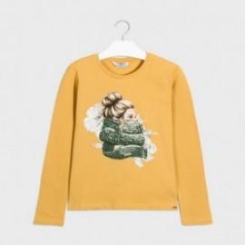 Tričko pro dívky s dlouhým rukávem Mayoral 7070-81 Hořčice