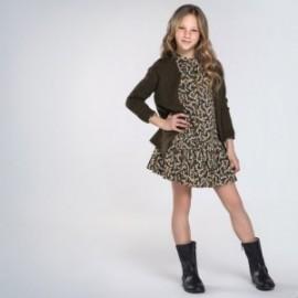 Sweter trykot kieszonki dziewczynka Mayoral 7335-25 Zielony