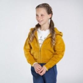 Bluza trykot z misiem dziewczynka Mayoral 7338-16 Musztarda