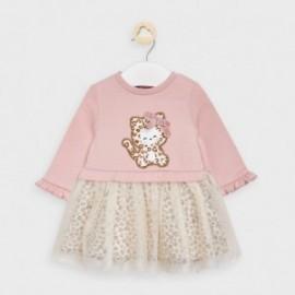 Šaty s dlouhým rukávem pro dívky Mayoral 2877-94 růžová