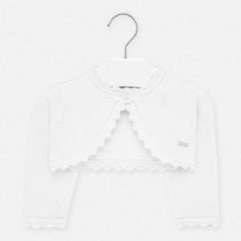 Pletený svetr pro dívky Mayoral 306-80 stříbrný