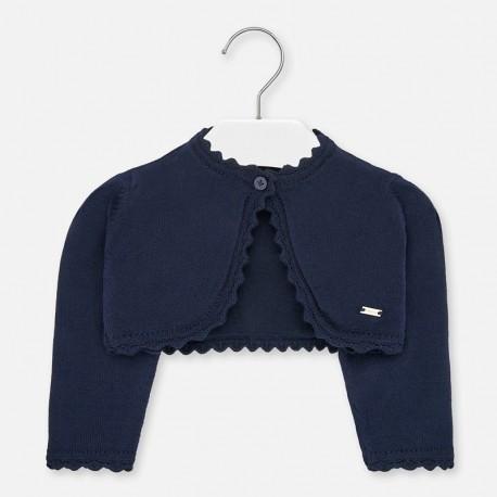 Pletený svetr pro dívky Mayoral 306-87 granát