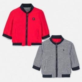 Oboustranná bunda pro chlapce Mayoral 1461-52 červená