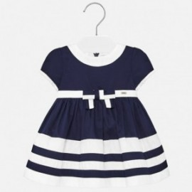 Tenké saténové šaty pro dívky Mayoral 1916-41 tmavě modré