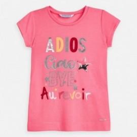 Tričko s potiskem pro dívky Mayoral 3018-53 růžové