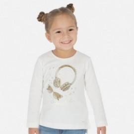 Tričko s dlouhým rukávem pro dívky Mayoral 3020-42 krémová