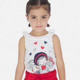 Tričko s ramenními popruhy pro dívky Mayoral 3022-59 Bílá