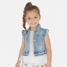 Jeansová vesta pro dívku Mayoral 3322-84 modrá