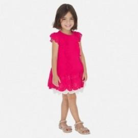 Elegantní šaty pro dívku Mayoral 3931-15 červená