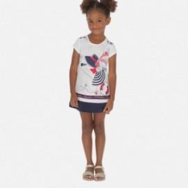 Bavlněné dívčí šaty Mayoral 3936-10 granát