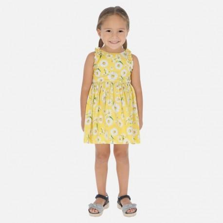 Květinové šaty s podšívkou pro dívky Mayoral 3951-68 žluté