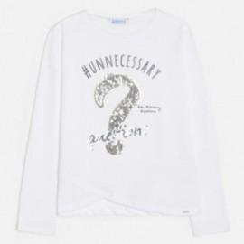 Tričko pro dívky s dlouhým rukávem Mayoral 6026-64 bílé