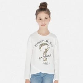 Tričko pro dívky s dlouhým rukávem Mayoral 6026-62 Krémová