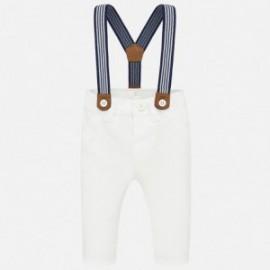 Chlapecké kalhoty se šlemi Mayoral 1542-10 Bílý