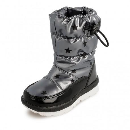 Dívčí sněhové boty Garvalin 201850, stříbrná barva