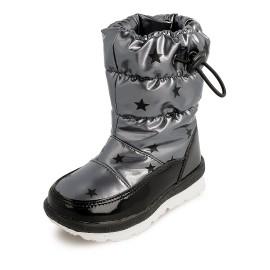 Dívčí sněhové boty Garvalin 201850 stříbrná barva