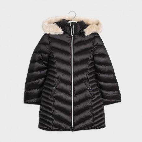 Dívčí dlouhá bunda Mayoral 7415-93 Černá