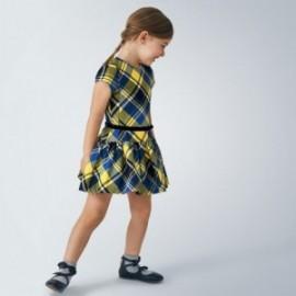 Dívčí kostkované šaty Mayoral 4974-42 žlutá