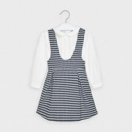 Sada se sukní se šlemi pro dívky Mayoral 4991-11 Granát