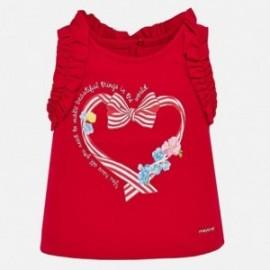 Tričko na ramenních popruzích holčičí Mayoral 1070-38 Červené