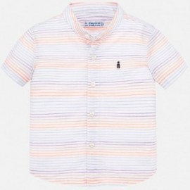 Pruhované tričko pro chlapce Mayoral 1161-80 Neon oranžová