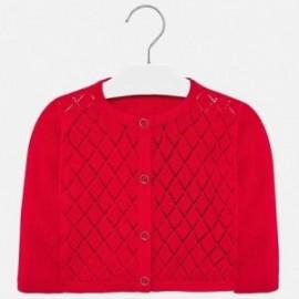 Prolamovaný svetr dívčí Mayoral 1328-26 Červená