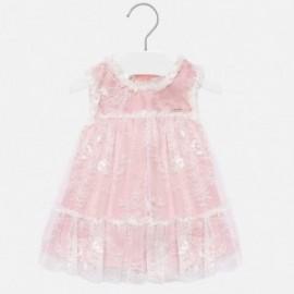 Dívčí šaty s krajkou Mayoral 1905-71 Růžové