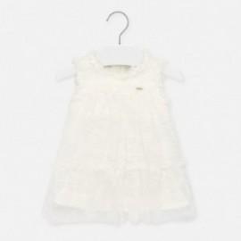 Dívčí šaty s krajkou Mayoral 1905-72 krémová